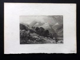 Finden works of Byron C1835 Antique Print. Licenza, Italy